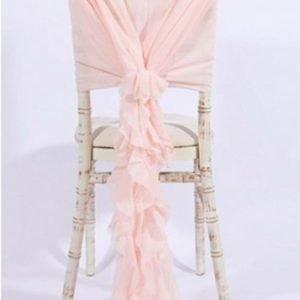 pink chiffon frill sashes