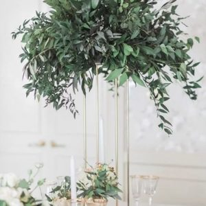 GOLD TABLE PEDESTAL FOLIAGE