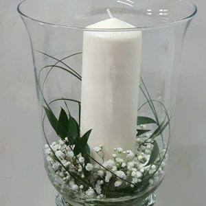 Simple bridal table decoration